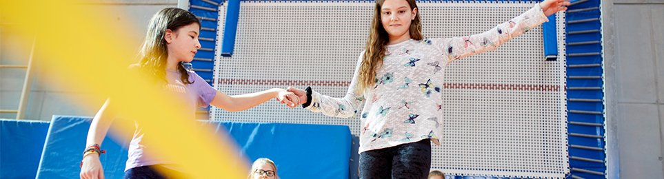 Leisure Games and coordination games - athletic and sportive fun for inside and outside with motoric and agility equipement